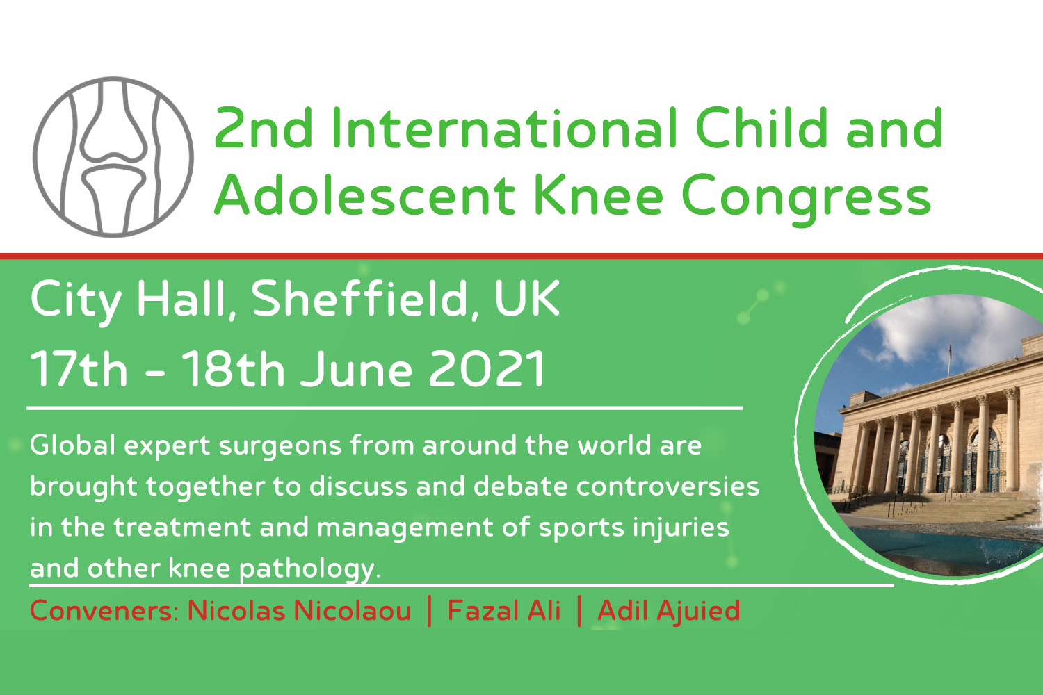 Nev talking at the 2nd International Child and Adolescent Knee Congress